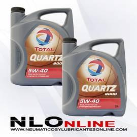 Total Quartz 9000 5W40 5L OFERTA X2