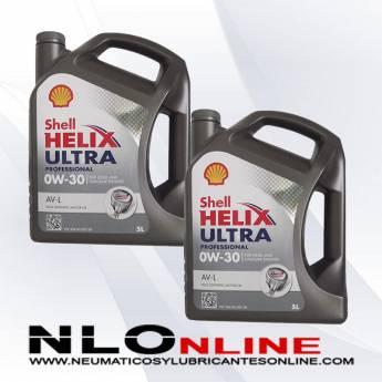 Shell Helix Ultra Professional 0W30 AV-L 5L PACK X2 - 66.00 €