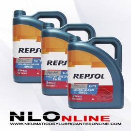 Repsol Elite Evolution Longlife 5W30 5L OFERTA X3