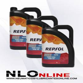 Repsol Elite Diesel Super Turbo 15W40 SHPD 5L OFERTA X3