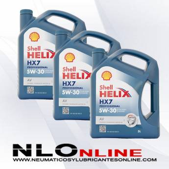 Shell Helix HX7 Professional AV 5W30 Diesel 5L PACK X3