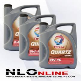 Total Quartz 9000 5W40 5L OFERTA X3