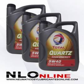 Total Quartz 9000 Energy 5W40 5L OFERTA X3