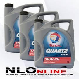 Total Quartz 7000 10W40 A3/B4 5L OFERTA X3