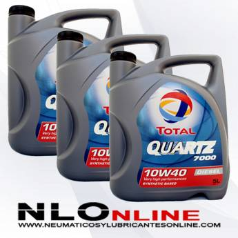 Total Quartz 7000 Diesel 10W40 A3/B4 5L PACK X3