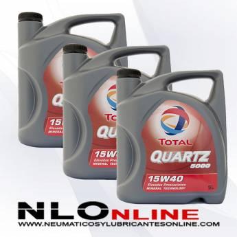 Total Quartz 5000 15W40 5L PACK X3 - 60.00 €