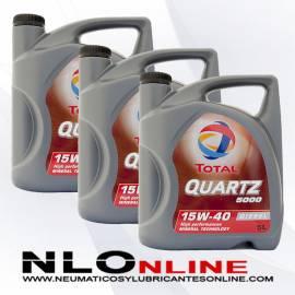 Total Quartz 5000 15W40 Diesel 5L OFERTA X3