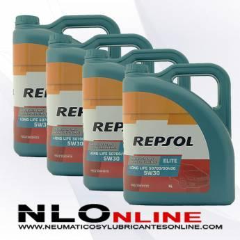 Repsol Elite Long Life 5W30 507/400 5L OFERTA X4