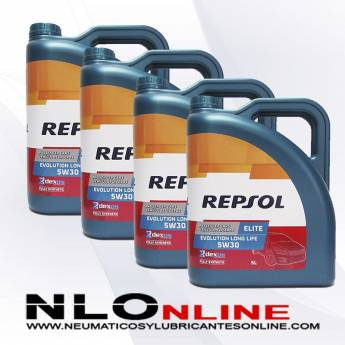 Repsol Elite Evolution Longlife 5W30 5L PACK X4