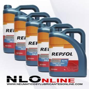 Repsol Elite Turbo Life 0W30 5L PACK X5