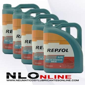 Repsol Elite Long Life 5W30 50700/50400 5L OFERTA X5