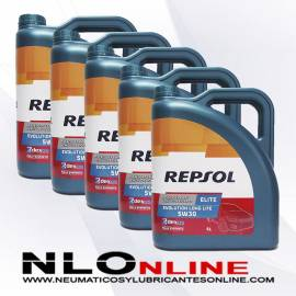 Repsol Elite Evolution Longlife 5W30 5L OFERTA X5