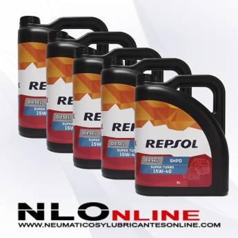 Repsol Diesel Super Turbo SHPD 15W40 5L PACK X5