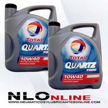 Total Quartz 7000 Diesel 10W40  A3-B4 5L PACK X2