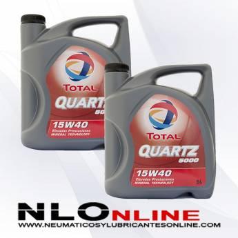 Total Quartz 5000 15W40 5L PACK X2 - 41.00 €