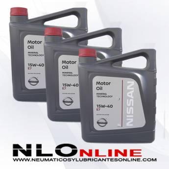 Nissan Motor Oil 15W40 E7 5L OFERTA X3