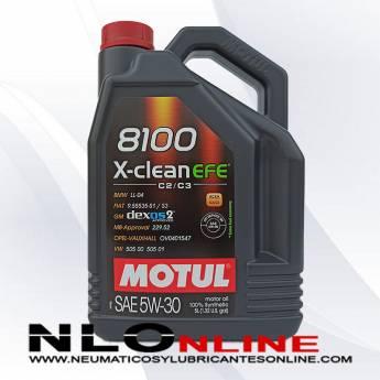 Motul 8100 X-Clean 5W30 EFE C2/C3 5L - 28.50 €