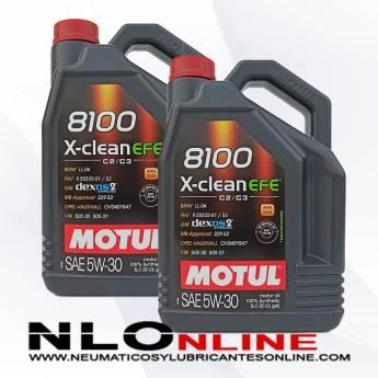 Motul 8100 X-Clean 5W30 EFE C2/C3 5L PACK X2 - 56.00 €