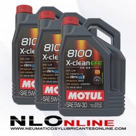 Motul 8100 X-Clean 5W30 EFE C2/C3 5L PACK X3 - 86.25 €