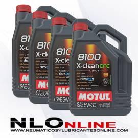 Motul 8100 X-Clean 5W30 EFE C2/C3 5L PACK X4 - 113.00 €