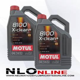 Motul 8100 X-Clean+ 5W30 5L PACK X2 - 58.50 €