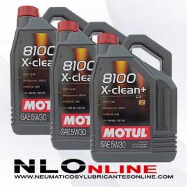Motul 8100 X-Clean+ 5W30 5L PACK X3 - 86.25 €
