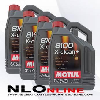 Motul 8100 X-Clean+ 5W30 5L PACK X4 - 113.00 €