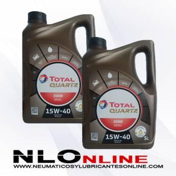 Total Quartz 5000 Diesel 15W40 5L PACK X2 - 38.00 €