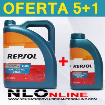 Repsol Elite Turbo Life 0W30 506.01 (5L + 1L) - 50.50 €