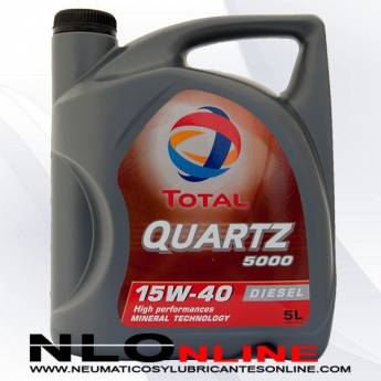 Total Quartz 5000 15W40 5L - 18.50 €