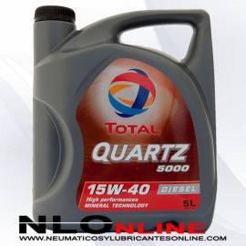 Aceite motor Total Quartz 5000 Diesel 15W40 5L