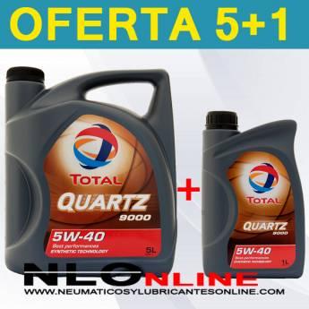 Total Quartz 9000 5W40 (5L+1L) - 28.90 €