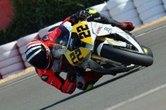 Edu Santiño, aceite de moto